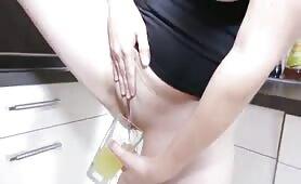 Natursekt in der Flasche